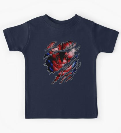 Peter torn tee tshirt pencils color art Kids Tee