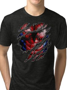 Peter torn tee tshirt pencils color art Tri-blend T-Shirt