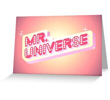 Mr. Universe Sign // Steven Universe Greeting Card