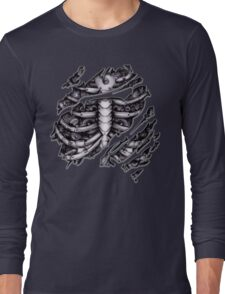 Steampunk terminator Cyborg robot body torn tee tshirt Long Sleeve T-Shirt