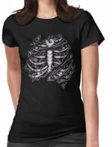 Steampunk terminator Cyborg robot body torn tee tshirt Womens Fitted T-Shirt
