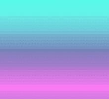 Magenta/Turquoise Pixel Gradient by rei0