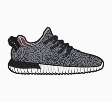 Black Cement Yeezy Boost by wup66