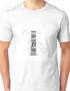 Zentangle®-Inspired Art - Tangled Alphabet - I Unisex T-Shirt