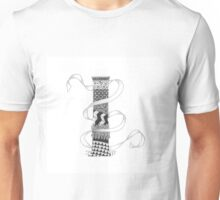 Zentangle®-Inspired Art - Tangled Alphabet - I Unisex T-Shirt