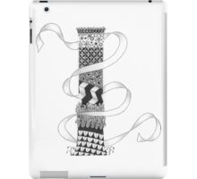 Zentangle®-Inspired Art - Tangled Alphabet - I iPad Case/Skin