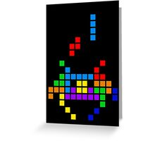 Tetris Invaders Greeting Card