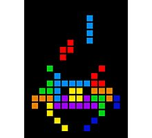 Tetris Invaders Photographic Print