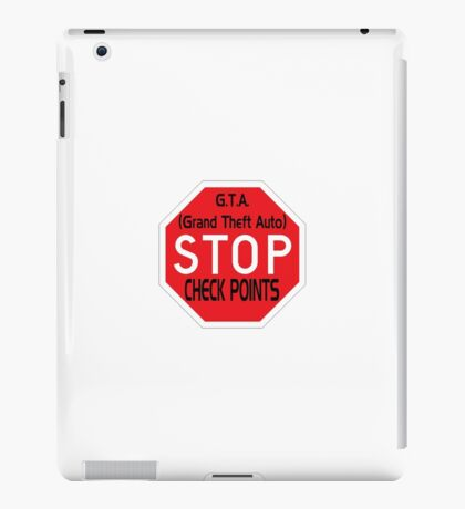 Stop the Checkpoints iPad Case/Skin