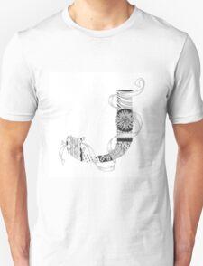 Zentangle®-Inspired Art - Tangled Alphabet - J T-Shirt