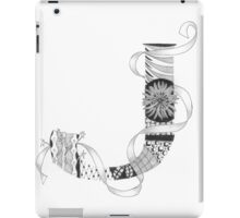 Zentangle®-Inspired Art - Tangled Alphabet - J iPad Case/Skin