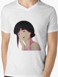 lain laugh Mens V-Neck T-Shirt