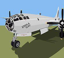 B29 Superfortress Bomber by Michael Tompsett