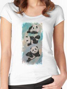 Panda Karate Women's Fitted Scoop T-Shirt