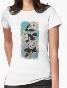 Panda Karate Womens Fitted T-Shirt