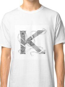 Zentangle®-Inspired Art - Tangled Alphabet - K Classic T-Shirt