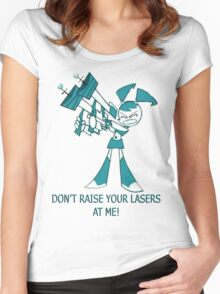 Teenage Robot - Raise Your Lasers Women's Fitted Scoop T-Shirt