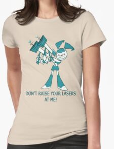 Teenage Robot - Raise Your Lasers Womens Fitted T-Shirt