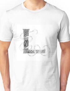 Zentangle®-Inspired Art - Tangled Alphabet - L Unisex T-Shirt