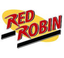 Gotham's Red Robin! Photographic Print
