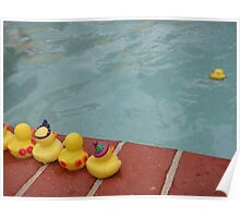 The Ducky who couldn't swim Poster
