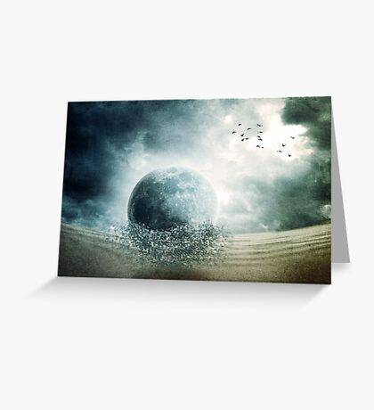 When Giants Fall Greeting Card