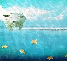 Swimming with the fishes by Monjii