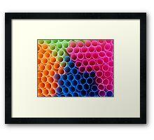 Coloured Straws Framed Print