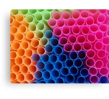Coloured Straws Canvas Print