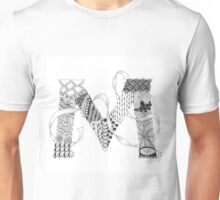 Zentangle®-Inspired Art - Tangled Alphabet - M Unisex T-Shirt
