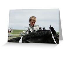 Horse Dresser Greeting Card