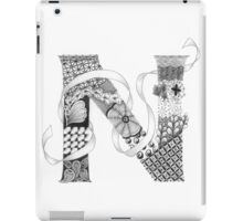 Zentangle®-Inspired Art - Tangled Alphabet - N iPad Case/Skin