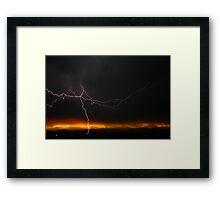 Strikes Twice Framed Print
