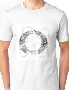 Zentangle®-Inspired Art - Tangled Alphabet - O Unisex T-Shirt