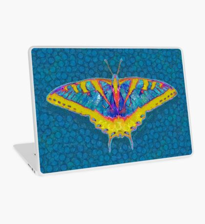 BUTTERFLY SINGS WITH ITS WINGS Laptop Skin