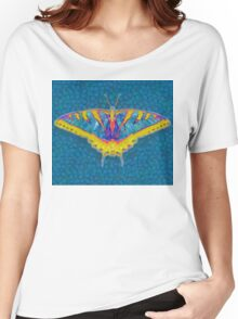 BUTTERFLY SINGS WITH ITS WINGS Women's Relaxed Fit T-Shirt