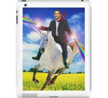 Obama unicorn win small iPad Case/Skin