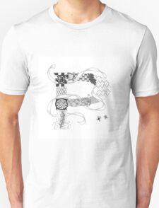 Zentangle®-Inspired Art - Tangled Alphabet - P T-Shirt