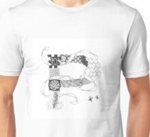 Zentangle®-Inspired Art - Tangled Alphabet - P Unisex T-Shirt