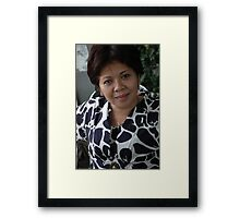 mature woman Framed Print
