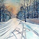 Layby in the Snow by Glenn Marshall