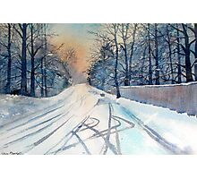 Layby in the Snow Photographic Print