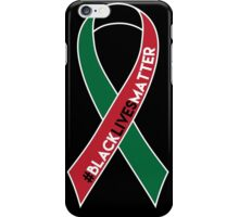 Black Lives Matter Awareness Ribbon iPhone Case/Skin