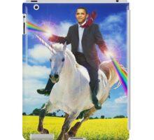 Obama unicorn win iPad Case/Skin