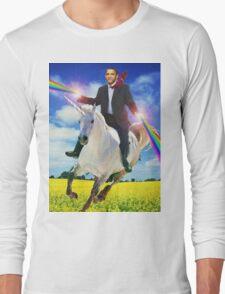 Obama unicorn win Long Sleeve T-Shirt