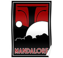 Mandalore Art Deco Poster