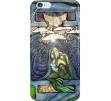 Mermaid pose in color iPhone Case/Skin