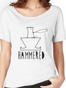 'HAMMERED' Simple but cool Grunge Rock Design Women's Relaxed Fit T-Shirt