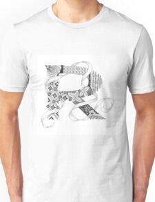 Zentangle®-Inspired Art - Tangled Alphabet - R Unisex T-Shirt