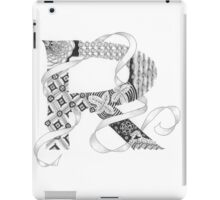 Zentangle®-Inspired Art - Tangled Alphabet - R iPad Case/Skin